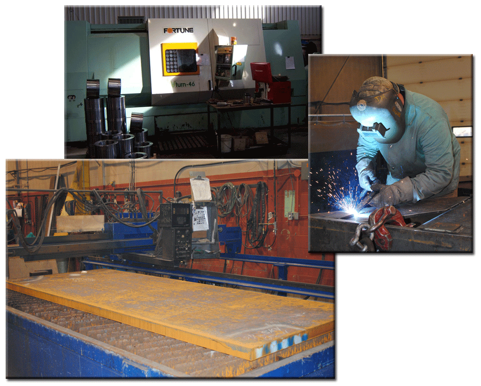 Machines and man welding